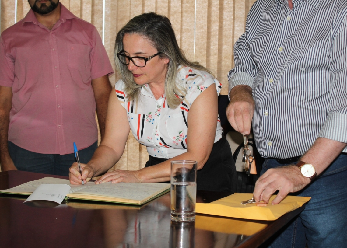 Maria Eliane tomou posse como prefeita interina no dia 10 de dezembro e permaneceu no cargo até 31 de março. Foto: Matheus de Oliveira