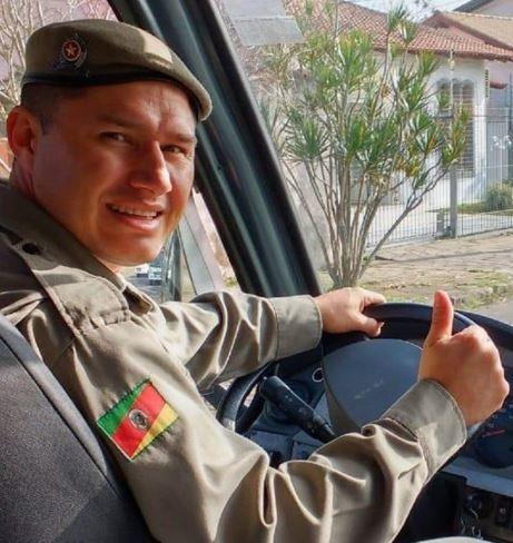 Soldado Rodrigo Slobodniuk, que comandou o atendimento da sala de operações da polícia