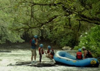 Rio Paranhana serviu de cenário das gravações  Foto: Divulgação