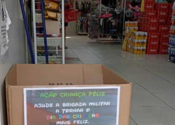 Caixas identificadas foram levadas até pontos comerciais parceiros (Cred. Brigada Militar)