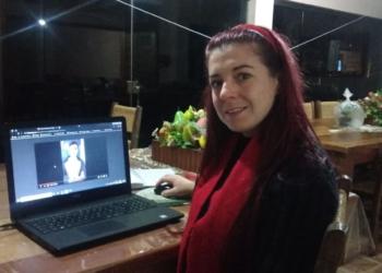 Professora Letícia foi idealizadora do projeto   Foto: ACS Secretaria de Estado da Educação do RS