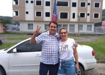 Pedro Rippel e sua esposa, Alzira Rippel. Foto: Fabio Machado