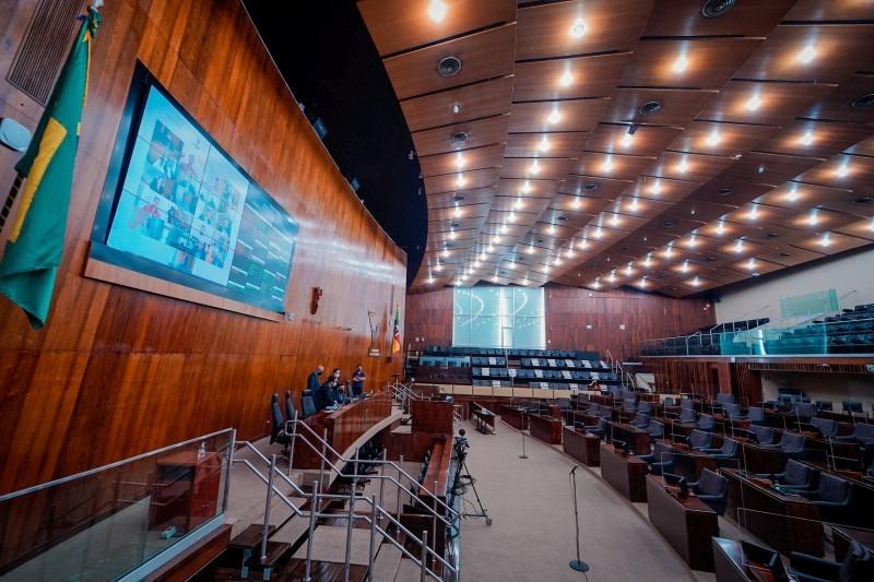 A votação do auxílio emergencial ocorreu em sessão virtual - Foto: Joel Vargas/ALRS