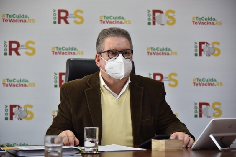 O vice-governador Ranolfo Vieira Júnior comandou a reunião do Gabinete de Crise -Foto: Rodrigo Ziebell/Ascom GVG