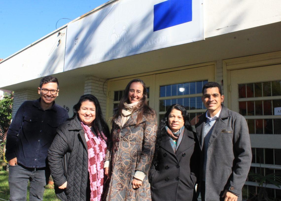 Da esquerda para a direita: Thiago, Fabiane, Débora, Rose e Gaspar Júnior Fotos: Lilian Moraes