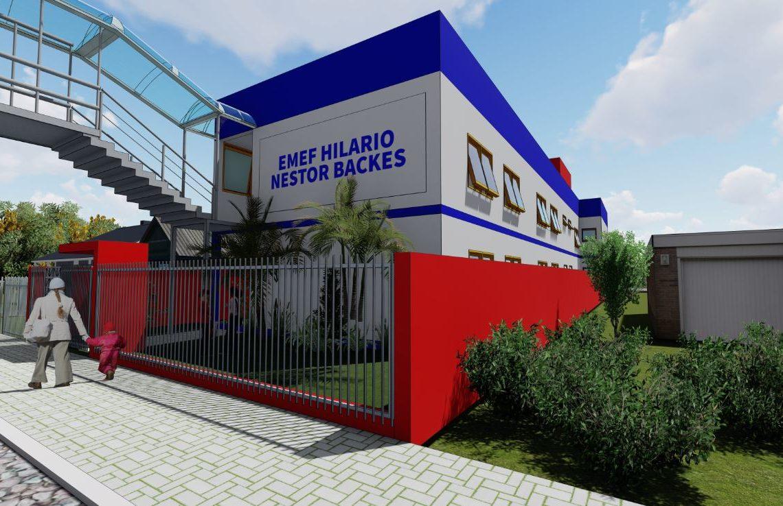 Ampliação será de 730,80 m² e contará com cozinha, despensa, refeitório, banheiros e seis salas de aula Foto: Divulgação/PMI