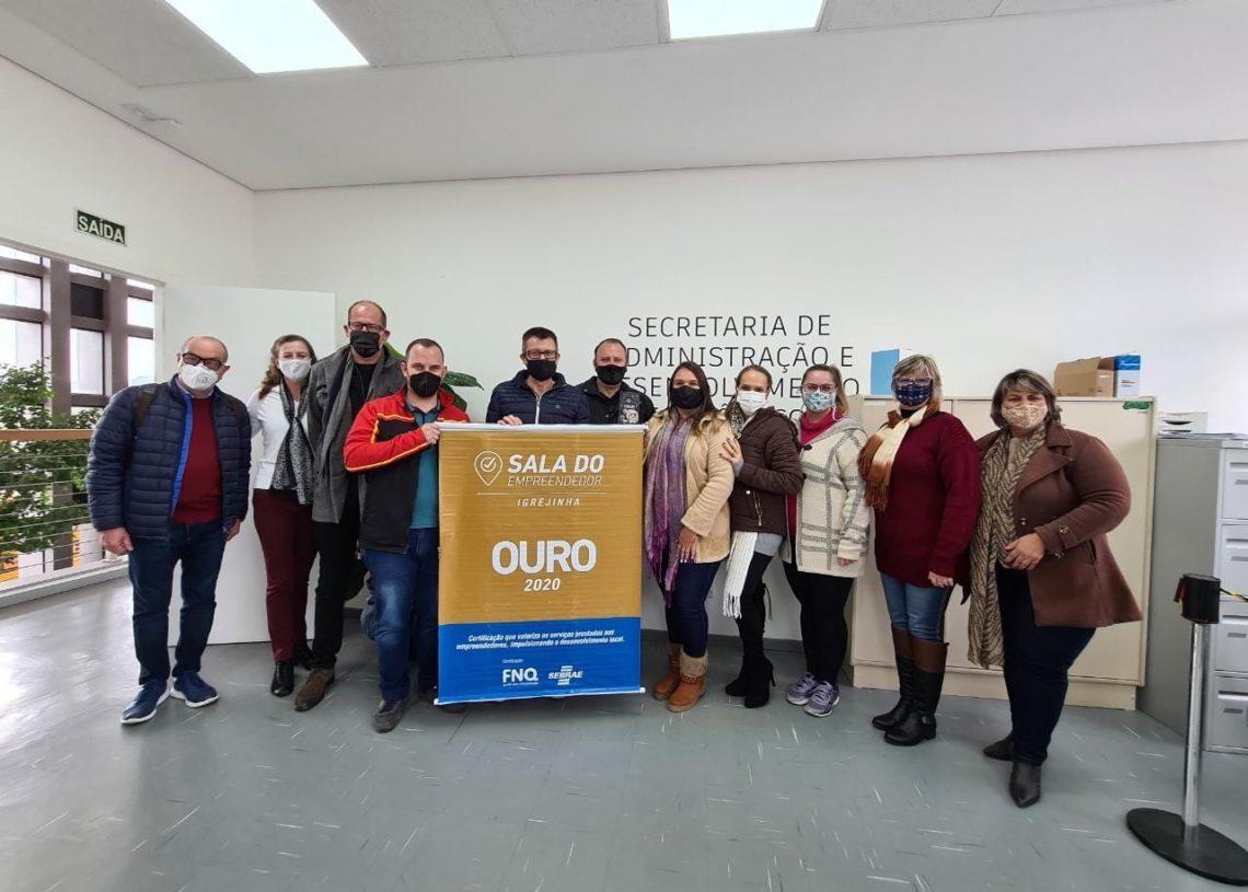 Igrejinha foi agraciada com mais este reconhecimento aos esforços na Sala do Empreendedor  (Foto: Divulgação)