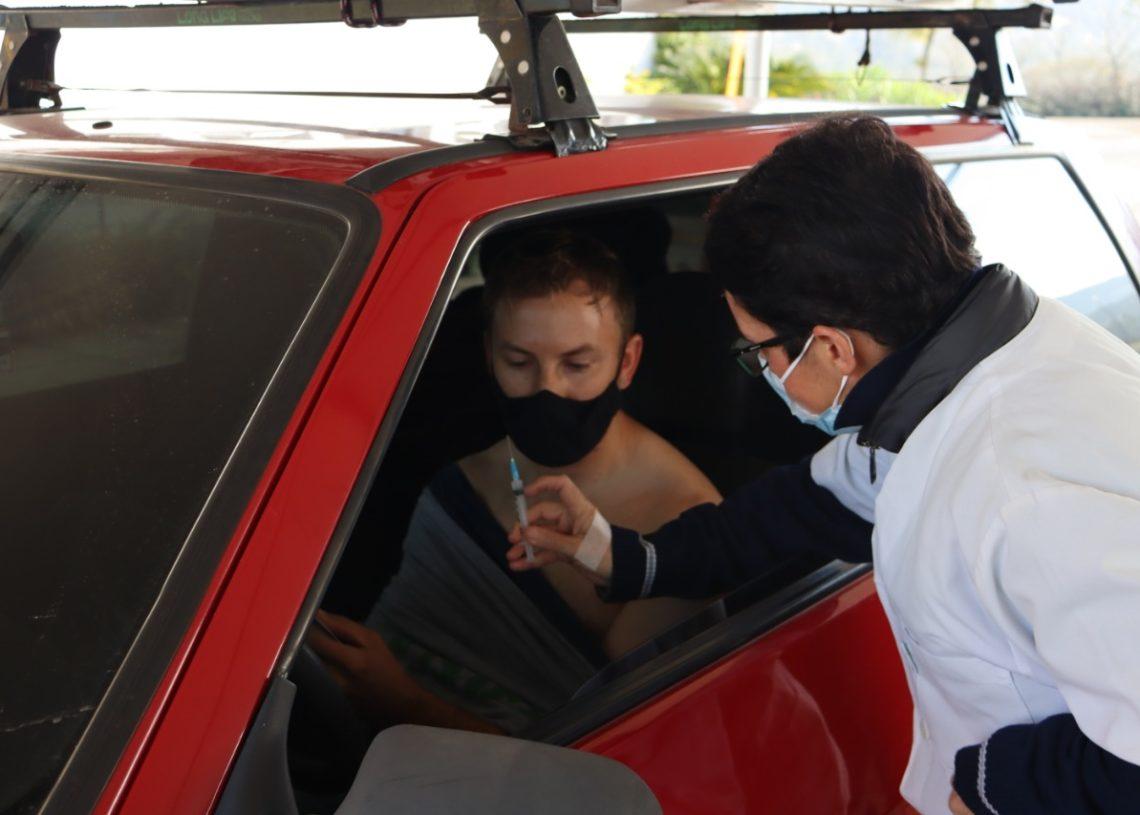 Vacinas da AstraZeneca estarão à disposição para quem tomou a primeira dose há cerca de três meses Foto: Ruan Nascimento/Prefeitura de Taquara