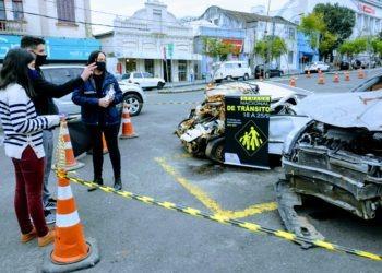 Ações de conscientização iniciaram em Taquara Foto: Magda Rabie