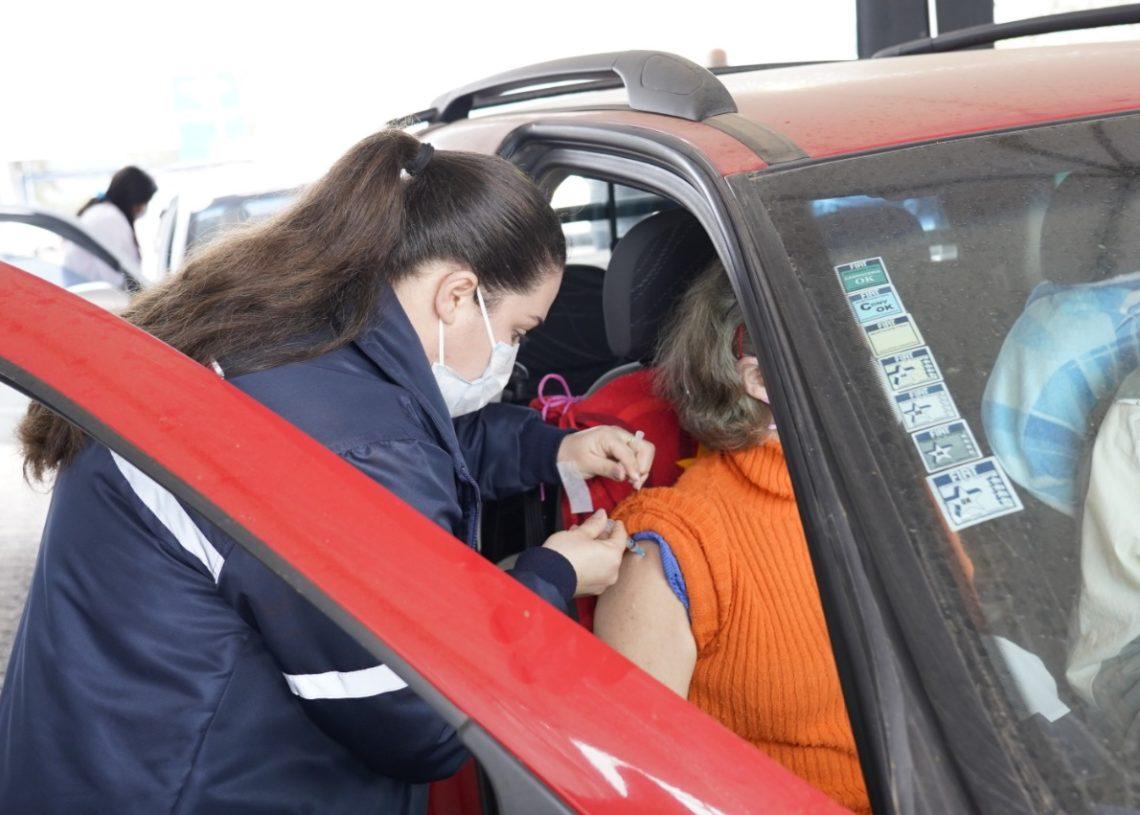 Quem tem a segunda dose agendada até o dia 11/9 poderá se vacinar Foto: Magda Rabie/Prefeitura de Taquara